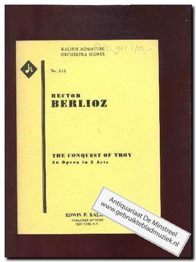 BERLIOZ, H. - The Conquest of Troy