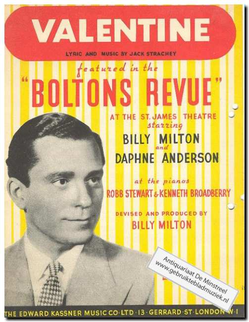 MILTON, BILLY EN ANDERSON, DAPHNE - Valentine featured in the Boltons revue